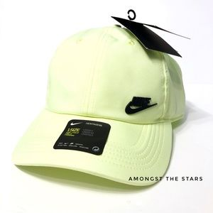 Nike Heritage 86 Futura Yellow Green Strapback Cap